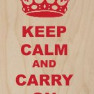 Keep Calm & Carry On Drinking  - Plywood Wood Print Poster Wall Art