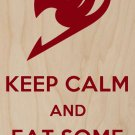 Keep Calm & Eat Some Cake  - Plywood Wood Print Poster Wall Art