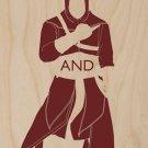 Keep Calm & Stab Templars - Plywood Wood Print Poster Wall Art