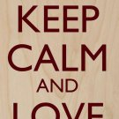 Keep Calm & Love Dogs Black Silhouette - Plywood Wood Print Poster Wall Art