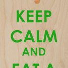 Keep Calm & Eat A Cookie Gingerbread - Plywood Wood Print Poster Wall Art