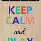 Keep Calm & Play Piano Colorful - Plywood Wood Print Poster Wall Art