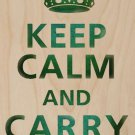 Keep Calm and Carry On Weathered - Plywood Wood Print Poster Wall Art