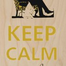 Keep Calm and Relax - Plywood Wood Print Poster Wall Art