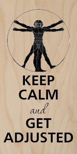 Keep Calm and Get Adjusted Muscles & Back - Plywood Wood Print Poster Wall Art