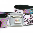 So So Happy Seatbelt Belt - SSH Taco, Siq, Ozzie, Tribe w/ Stars Purple/Green