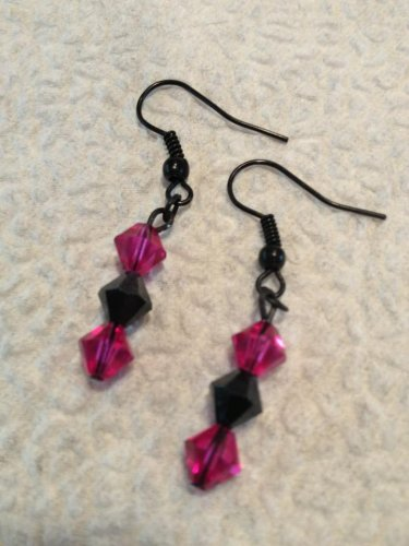 Pink & Black Earrings