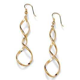 Gold Twist Earrings