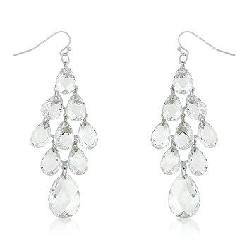 Clear Cluster Earrings