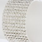 9 Row Rhinestone Stretch Bracelet