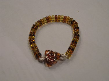 Mixed Browns and Topaz Beaded Bracelet