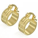 Gold Greek Key Huggie Earrings