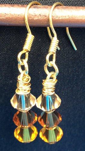 Mixed Topaz Swarovski Crystal Earrings