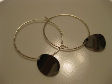 Silver Teardrop Hoop Earrings