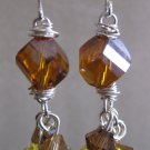 Swarovski Mixed Topaz Cluster Earrings