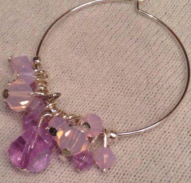 Pink & Purple Swarovski Cluster Earrings