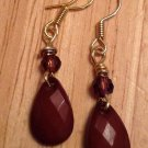 Brown & Gold Teardrop Earrings