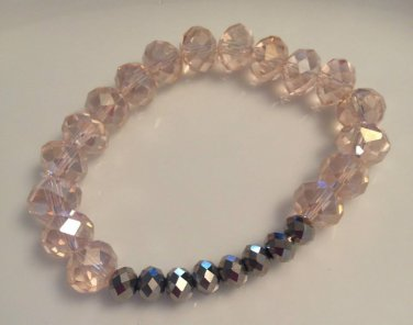 Pink & Grey Stretch Bracelet