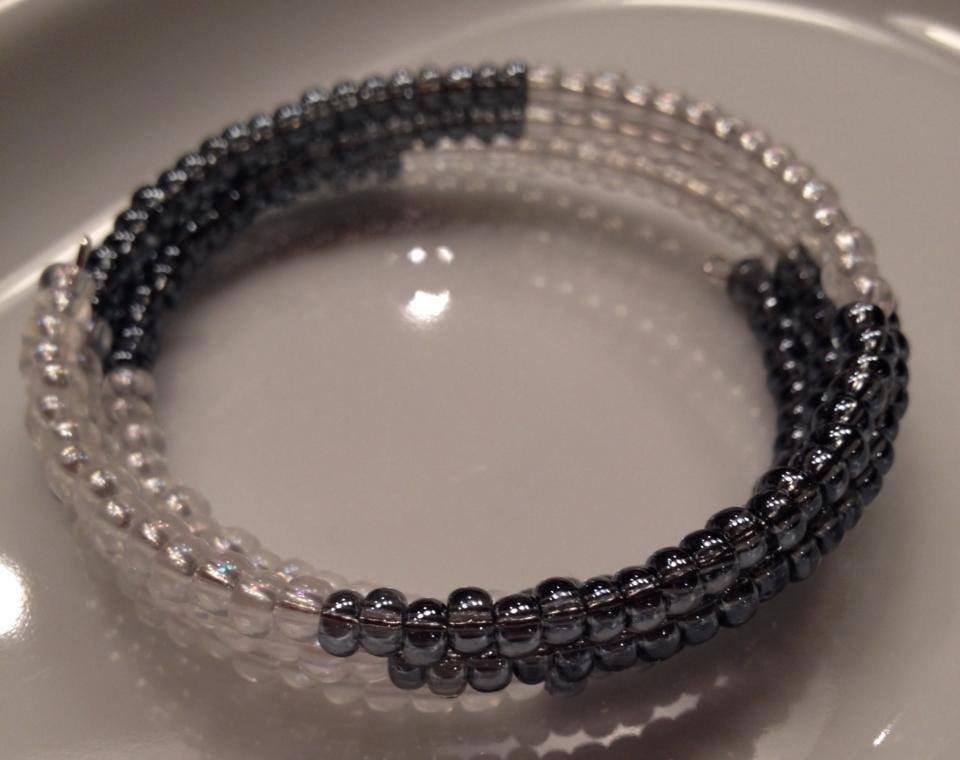 Blue & White Wrap Bracelet