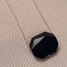 Simple Black Swarovski Bead Necklace