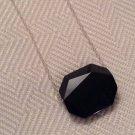 Simple Black Swarovski Bead Necklace