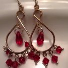 Fuchsia Chandelier Earrings