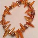 Tangerine Spike Bracelet