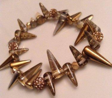 Gold Spike Bracelet