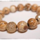 Picture Jasper & Cream Quartz Bracelet