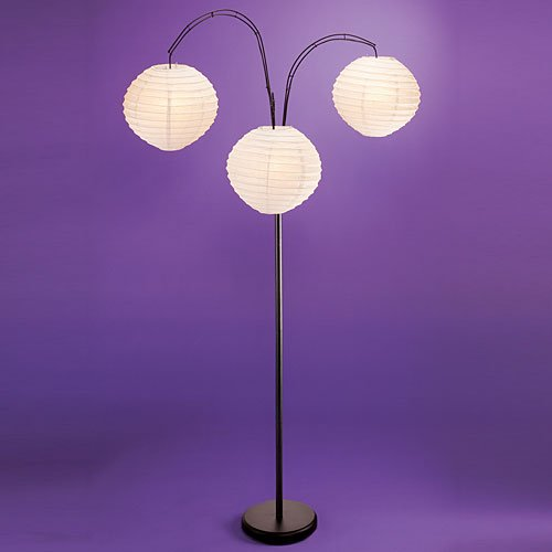 Coveete Floor Lamp w/ White Shades