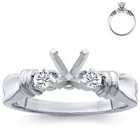 Platinum Setting with Diamond Accents (1/5 ct. tw.)
