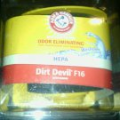NEW**ARM & HAMMER**DIRT DEVIL F 16*ODOR ELIMINATING*WASHABLE*VACUUM FILTER*HEPA