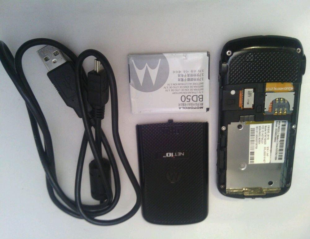 MOTOROLA NTMT326GB**BLACK**NET 10 PRE-PAID SLIDER CELL PHONE**GSM