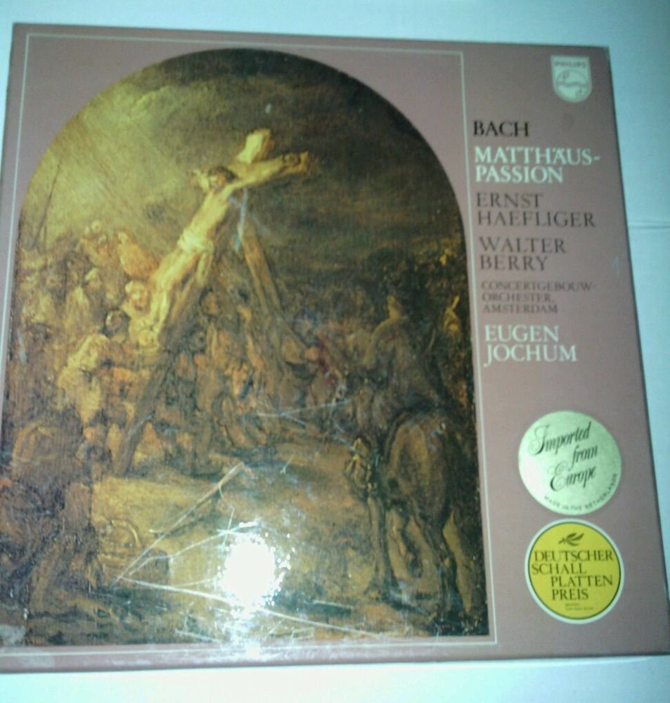 NEVER USED**J.S. BACH MATTHAUS-PASSION*PHILLIPS*4 LPS 33 RPM