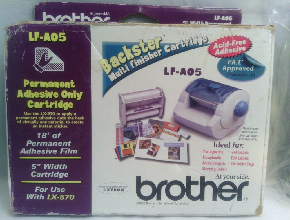 """NEW**BROTHER LF-AO5 - 5"""" WIDTH PERMANENT ADHESIVE ONLY CARTRIDGE"""