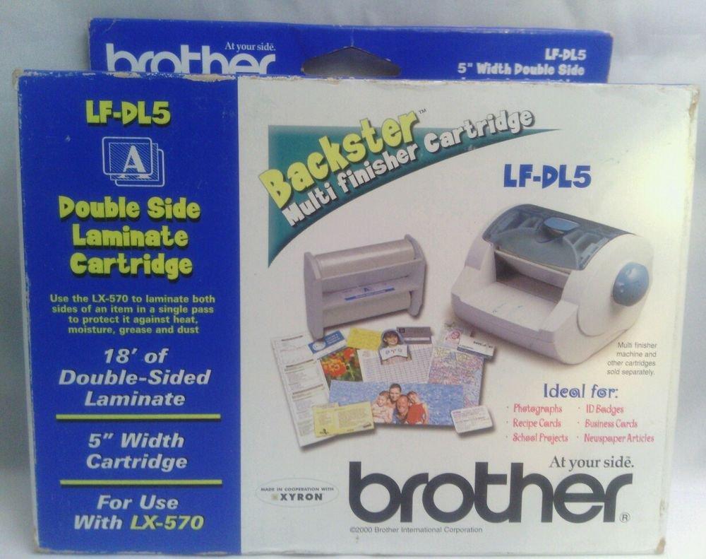 "NEW**BROTHER LF-DL5 DOUBLE SIDE LAMINATOR CARTRIDGE**18"" L x 5"" W"
