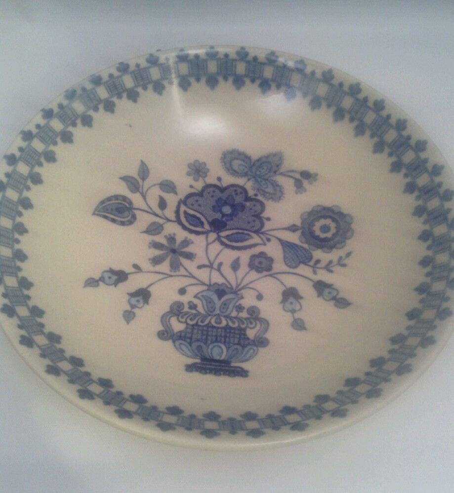JOHNSON BROS STAFFORDSHIRE OLD GRANITE JAMESTOWN BLUE/TAN ENGLAND SMALL BOWL
