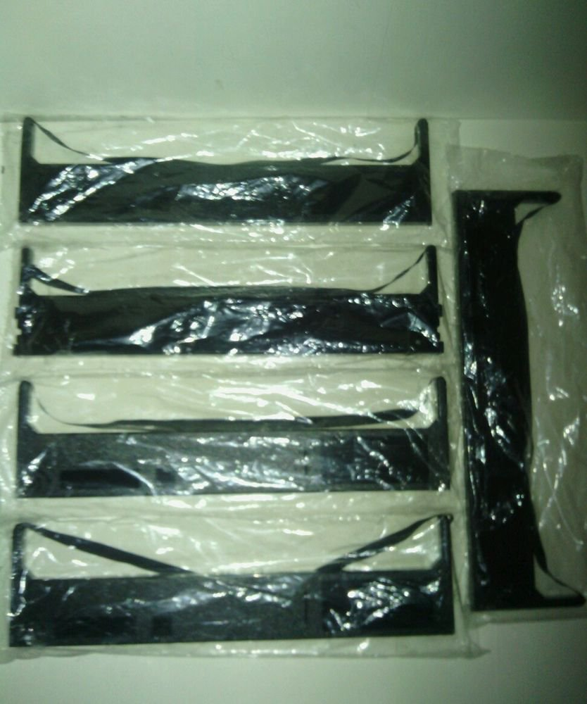 NEW**BLACK**5 PACK BUNDLE**CARTRIDGE RIBBON**BRAND/COMPATIBILITY UNKNOWN**AS IS