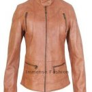 NWT Women's Biker Leather Jacket Style FS-28 Made to Measure