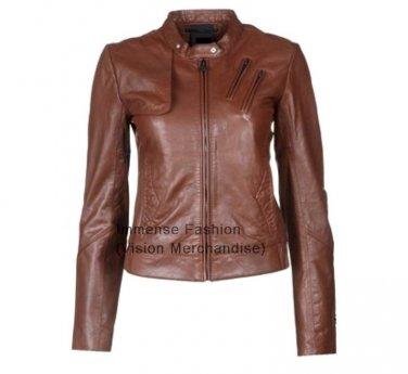 Women's Biker Leather Jacket Style FS-48