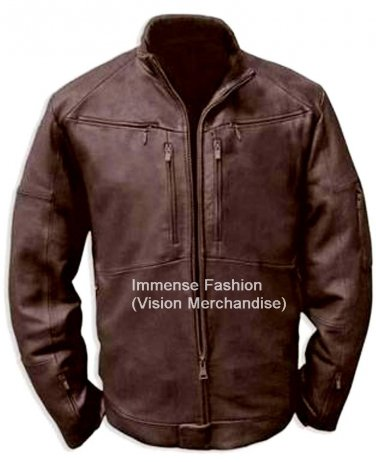 NWT Men's Bomber Aviator Leather Jacket Style MD-128