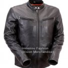Men's Retro Biker Leather Jacket Style MD-50