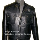 NWT Men's Cargo Pockets Bomber Leather Jacket Style M57