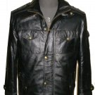 Men's Highneck Bomber Leather Jacket Style M62