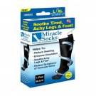 As Seen On TV Black xLarge Miracle Socks Anti Fatigue Compression Socks
