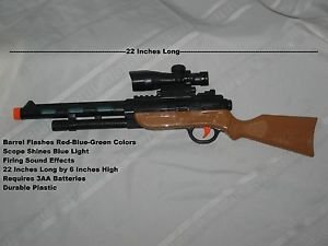 "22"" Battery Operated Sniper Rifle with Flashing Lights and Sounds"