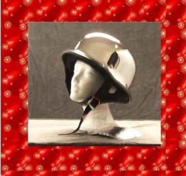 HCI DOT GERMAN MOTORCYCLE HELMET LARGE CHROME NEW 2009