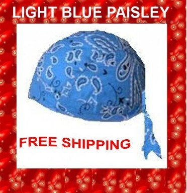 Danna Head Wrap Amazing Danna Light Blue Paisley $3.95 FREE SHIPPING