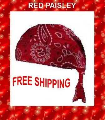Danna Head Wrap Danna Red Paisley NWT $3.95FREE SHIPPING SKD