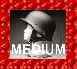 HCI DOT GERMAN MOTORCYCLE HELMET MATTE BLACK SIZE MEDIUM  NEW